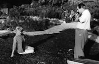 <p>Marilyn Monroe being photographed by Baron in Palm Springs. </p><p>Other celebrity visitors this year: Dean Martin, Bing Crosby, comedian Groucho Marx.</p>
