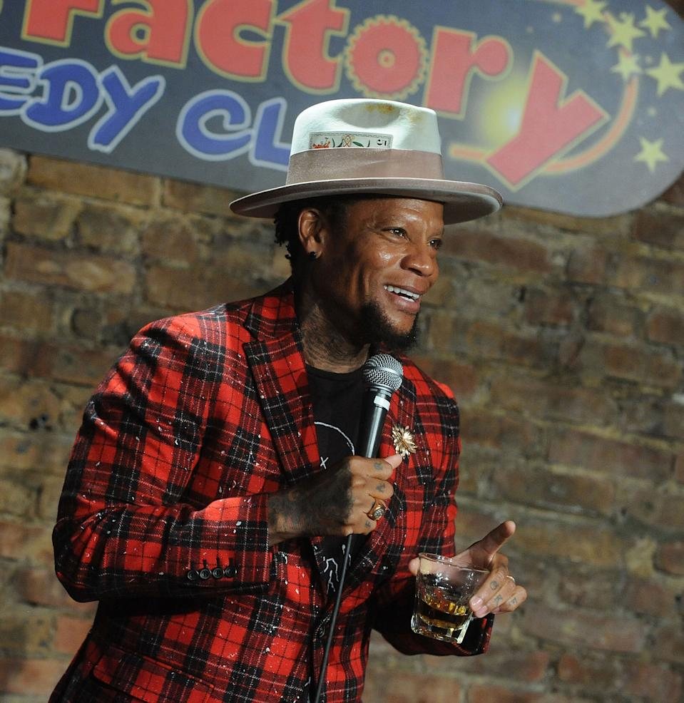 D.L. Hughley, pictured in May 2019, tested positive for COVID-19 after collapsing on stage. (Photo: Bobby Bank/Getty Images)