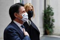 Civil servants applauded outgoing prime minister Giuseppe Conte as he handed over power to Draghi