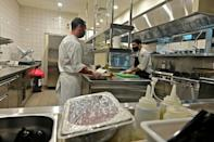 Fabien Fayolle (L), the chef at the Armani/Kaf, which is being positioned as Dubai's first kosher restaurant