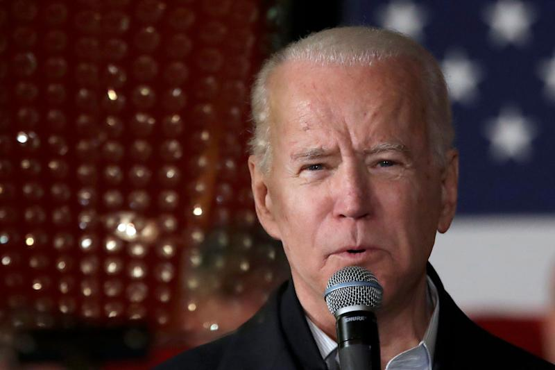 Democratic presidential candidate former Vice President Joe Biden speaks at a campaign event on February 5 (Photo: ASSOCIATED PRESS)
