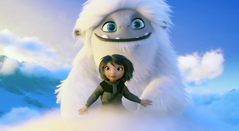 """<p><strong>Hulu's Description:</strong> """"When mischievous friends Yi (Chloe Bennet), Jin, and Peng discover a young yeti on their roof, they name him Everest and embark on a thrilling adventure to reunite the magical creature with his family. On the journey of their lifetimes, Everest helps Yi, Jin, and Peng unlock an inner bravery they didn't know they had. And as they travel across China to return the magical creature to his home, Everest will help them discover where they truly belong, too.""""</p> <p><span>Stream <strong>Abominable</strong> on Hulu!</span></p>"""