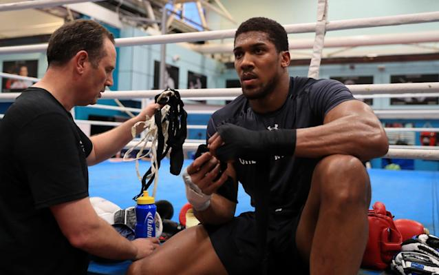 Anthony Joshua in training this weekCredit: PA