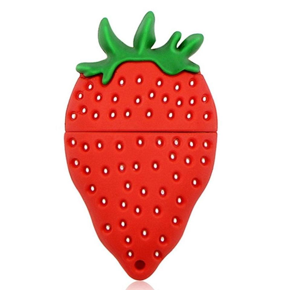 """<h2>Strawberry Flash Drive<br></h2><br>For only the juiciest memories, we suggest this fruit 32GB flash drive. <br><br><strong>Aneew</strong> Strawberry Flash Drive, $, available at <a href=""""https://www.amazon.com/Aneew-Pendrive-Fruit-Pineapple-Memory/dp/B015R4PEFY"""" rel=""""nofollow noopener"""" target=""""_blank"""" data-ylk=""""slk:Amazon"""" class=""""link rapid-noclick-resp"""">Amazon</a>"""