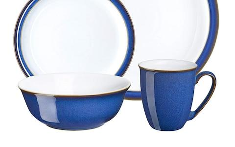 Denby Imperial Blue Boxed Tableware Set, 16-piece