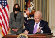 Biden signs executive orders on his racial equity agenda at the White House in Washington