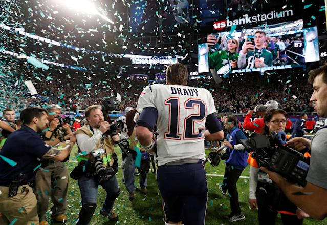 NFL Football - Philadelphia Eagles v New England Patriots - Super Bowl LII - U.S. Bank Stadium, Minneapolis, Minnesota, U.S. - February 4, 2018 New England Patriots' Tom Brady walks off dejected after the game REUTERS/Kevin Lamarque TPX IMAGES OF THE DAY