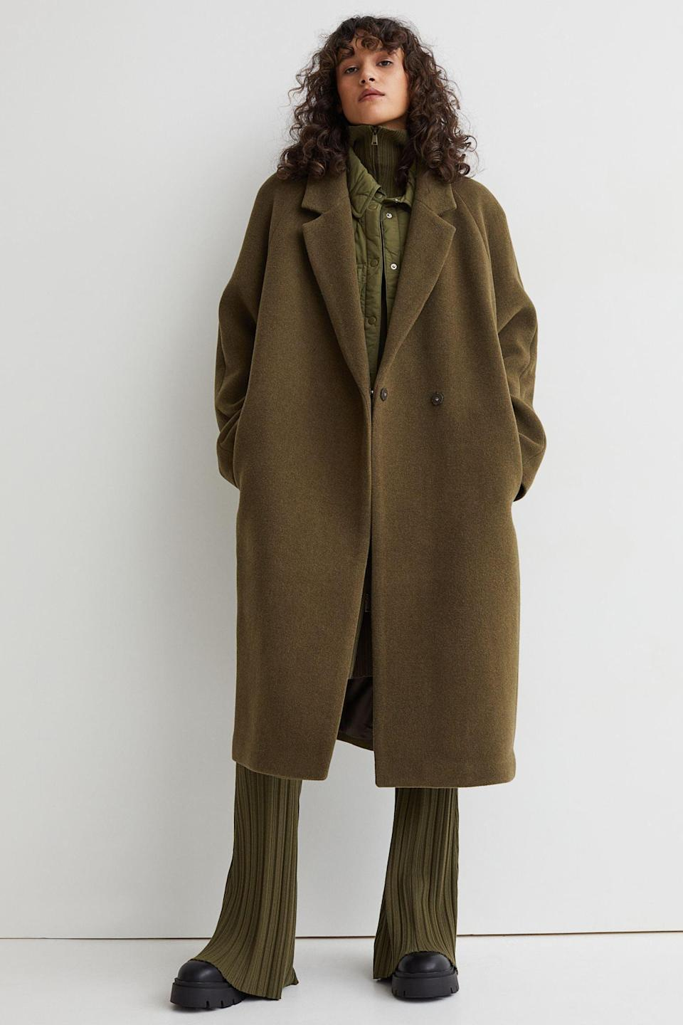 <p>This <span>Wool-blend Coat</span> ($159, originally $180) has enduring appeal, thanks to its straightforward silhouette, easy-to-wear style, and versatile color. Throw it over any look to add more flair.</p>