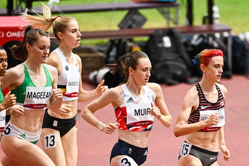 <p>Scottish runner Laura Muir placed a solid second in the 1500m semi-finals. She started relatively slowly at third from the back, but after two minutes had passed, she stormed ahead and came just behind Canada's Gabriela Debues-Stafford.</p>