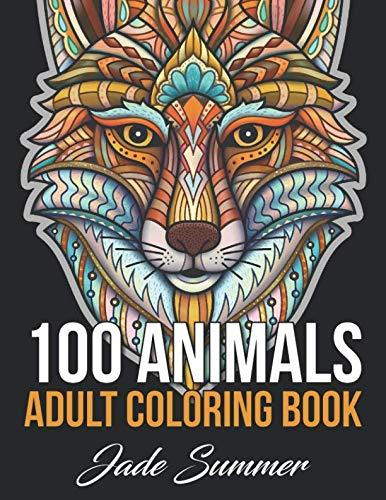 100 Animals: An Adult Coloring Book with Lions, Elephants, Owls, Horses, Dogs, Cats, and Many More! (Amazon / Amazon)