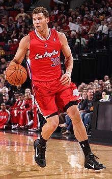 Blake Griffin said he hasn't had any pain in his left knee after having surgery in January to repair a broken kneecap