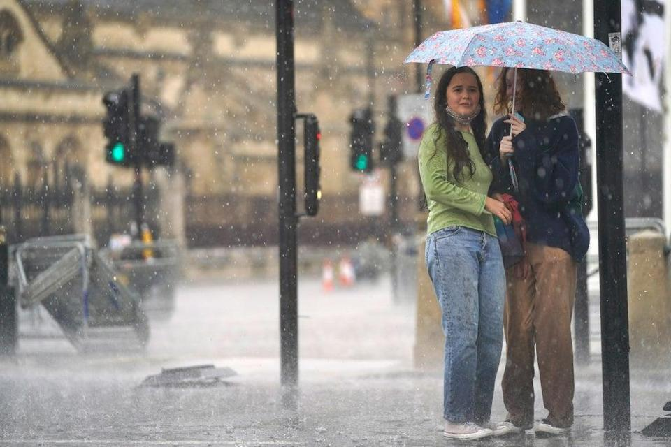 Forecasters have warned thunderstorms are set to strike much of the UK on Saturday (Victoria Jones/PA) (PA Wire)