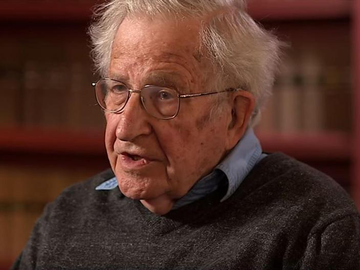 The eminent intellectual, who is described as the father of modern linguistics, argues the movement is self-destructive: BBC Newsnight