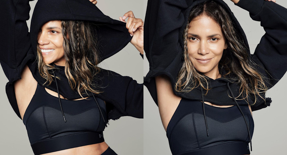 Halle Berry's new line of activewear is now available at Nordstrom. Images via Instagram/HalleBerry.