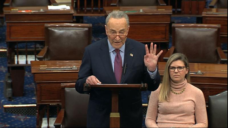 Senate Minority Chuck Schumer of N.Y., speaks on the Senate floor, Thursday, Dec. 19, 2019 at the Capitol in Washington. (Photo: Senate TV via AP)