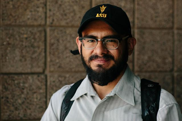 Edder Díaz Martinez, who came to the U.S. from Mexico when he was 5, is a DACA recipient, recent graduate of Arizona State University and an advocate in his community. (Photo: Caitlin O'Hara for Yahoo News)