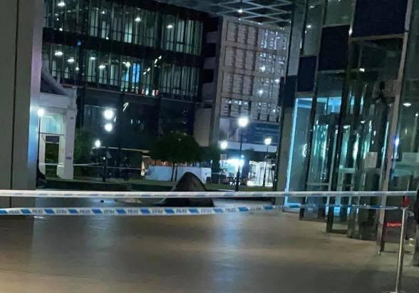 An 18-year-old teen was found dead outside One Raffles Place on Tuesday night. (PHOTO: Facebook/The Alternative View)