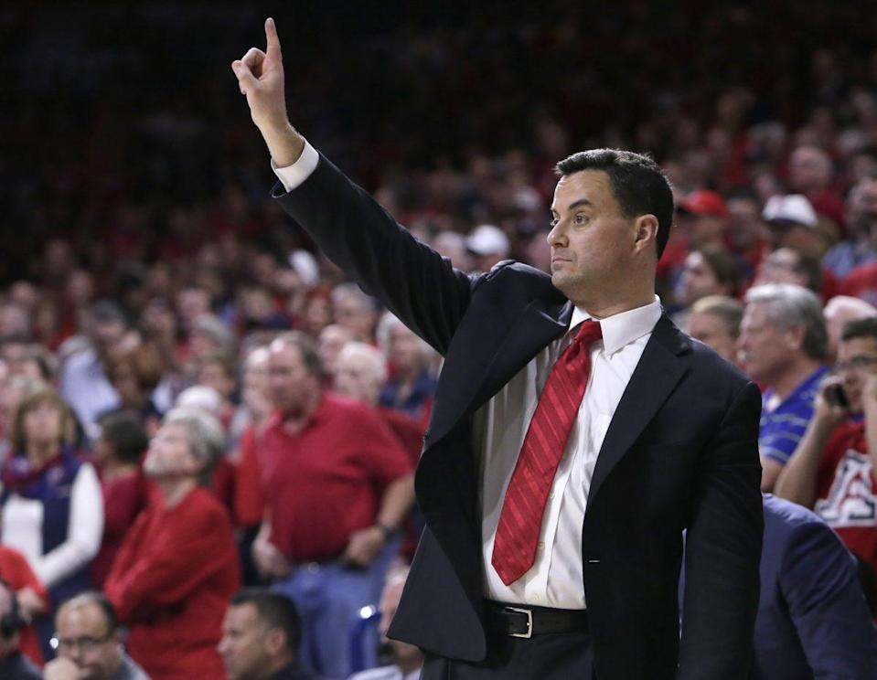In a season rife with challenges, Sean Miller still has Arizona atop the Pac-12. (AP)