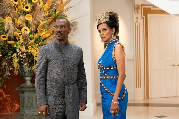 COMING 2 AMERICA Eddie Murphy and Shari Headley