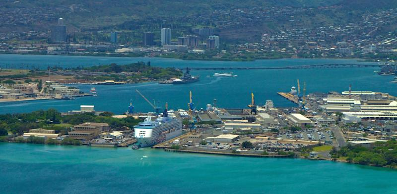 Pearl Harbor Naval Shipyard was the site of a shooting Wednesday. Access to the base was closed for several hours. (Photo: Bruce Clarke via Getty Images)
