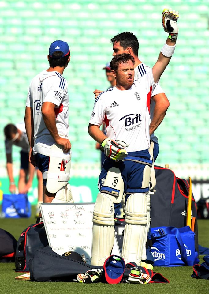 England's Ian Bell during a nets session at The Kia Oval, London.