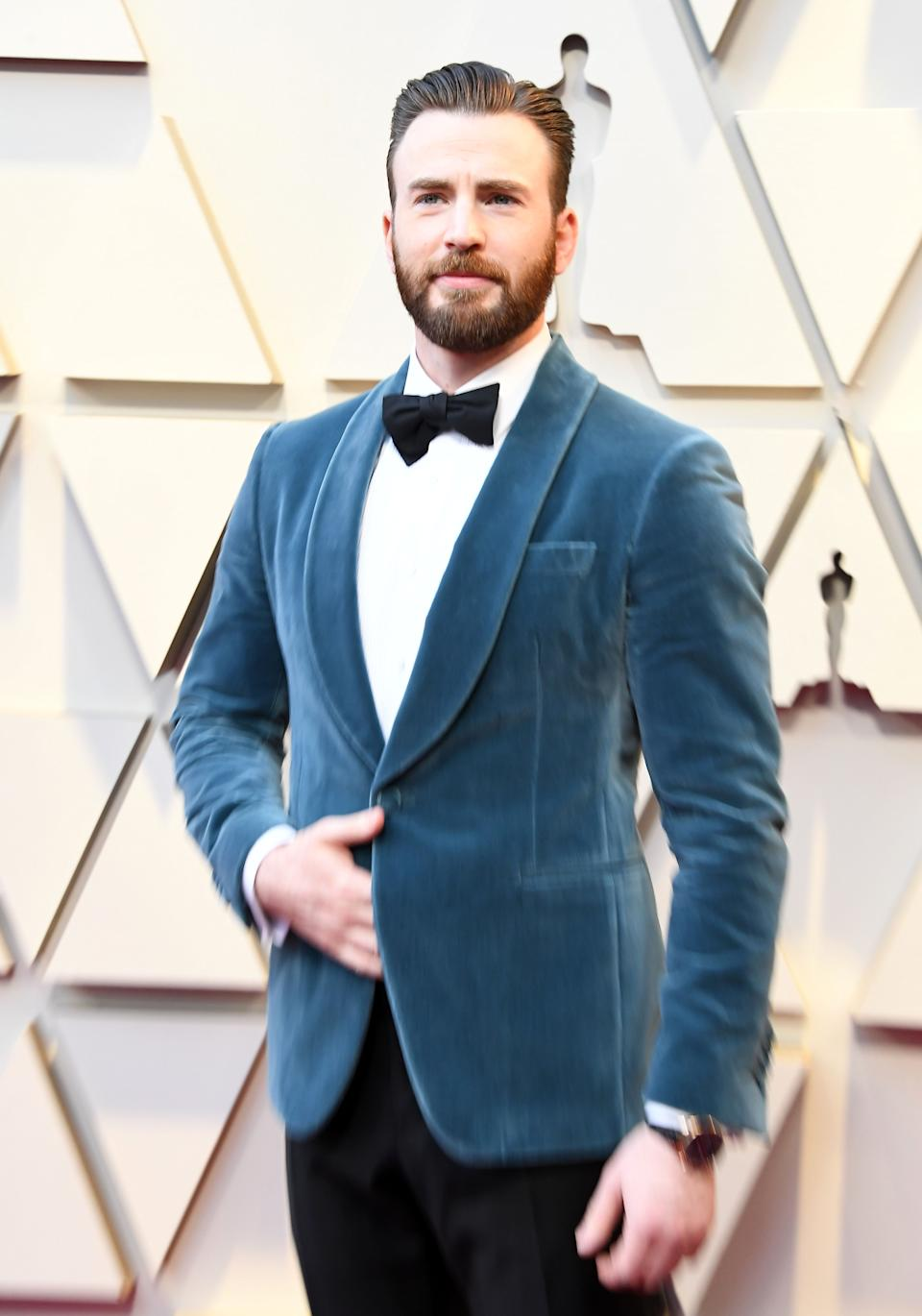 HOLLYWOOD, CALIFORNIA - FEBRUARY 24: Chris Evans arrives at the 91st Annual Academy Awards at Hollywood and Highland on February 24, 2019 in Hollywood, California. (Photo by Steve Granitz/WireImage)