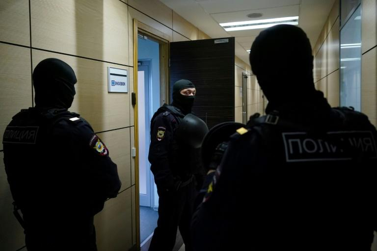 Russian police searched the offices of Navalny's Anti-Corruption Fund in southern Moscow while he was being interrogated   (AFP Photo/Dimitar DILKOFF)