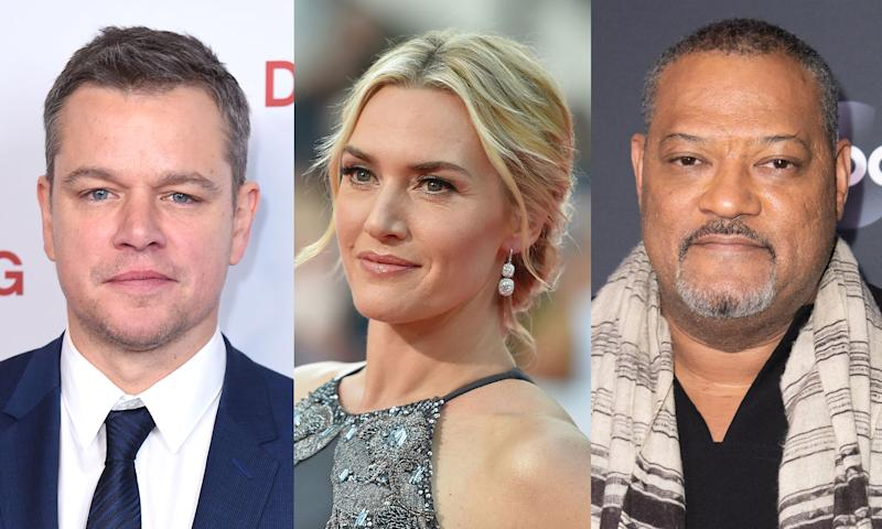 """Contagion"" stars Matt Damon Kate Winslet and Laurence Fishburne are warning people about the coronavirus. (Photo: Getty Images)"