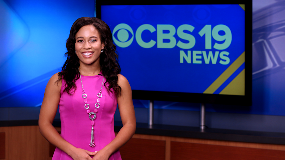 Brianna Hamblin, a reporter at CBS19, decided to wear her natural hair on camera. (Photo: CBS19 News)