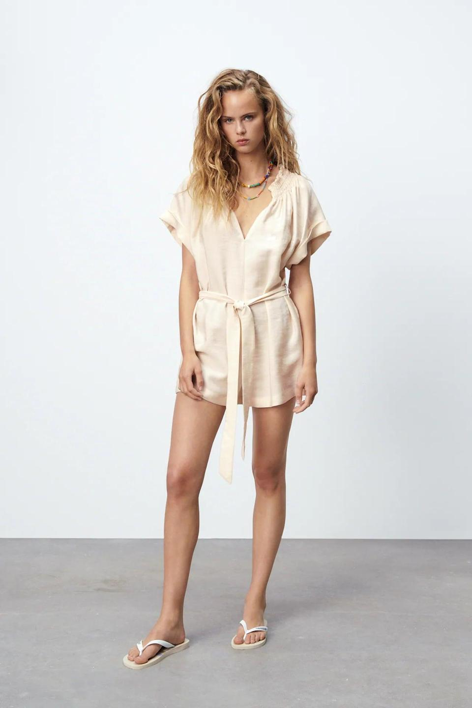 <p>This <span>Zara Belted Short Jumpsuit</span> ($46) is a staple we're going to return to again and again.</p>