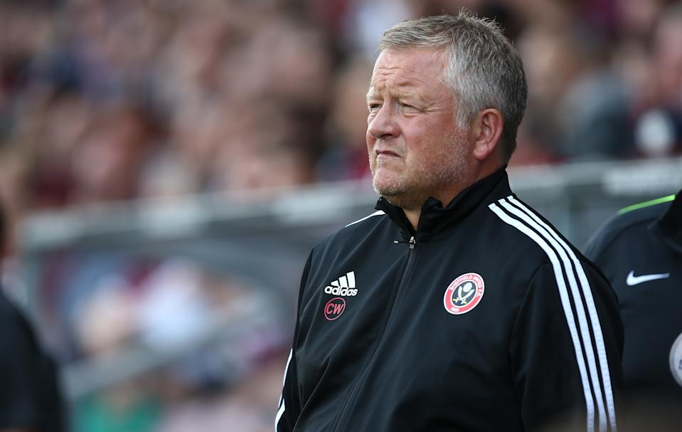 NORTHAMPTON, ENGLAND - JULY 20: Sheffield United manager Chris Wilder looks on during a Pre-Season Friendly match between Northampton Town and Sheffield United at PTS Academy Stadium on July 20, 2019 in Northampton, England. (Photo by Pete Norton/Getty Images)