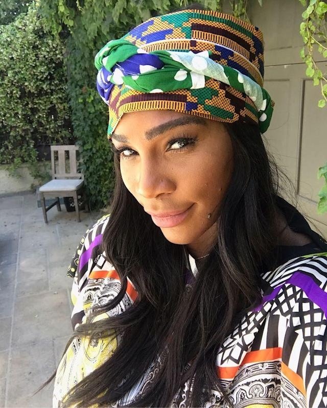 "<p>The pregnant tennis superstar scored an invite to Beyoncé's African-themed push party. ""Fun times,"" she wrote. We can imagine… (Photo: <a href=""https://www.instagram.com/p/BUZnnE6BgPq/?taken-by=serenawilliams"" rel=""nofollow noopener"" target=""_blank"" data-ylk=""slk:Serena Williams via Instagram"" class=""link rapid-noclick-resp"">Serena Williams via Instagram</a>) </p>"
