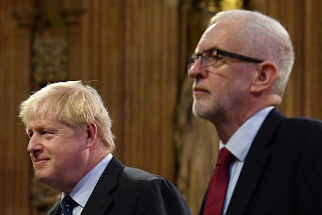 Britain's Prime Minister Boris Johnson and main opposition Labour Party leader Jeremy Corbyn. Photo: Daniel Leal-Olivas/Pool via REUTERS