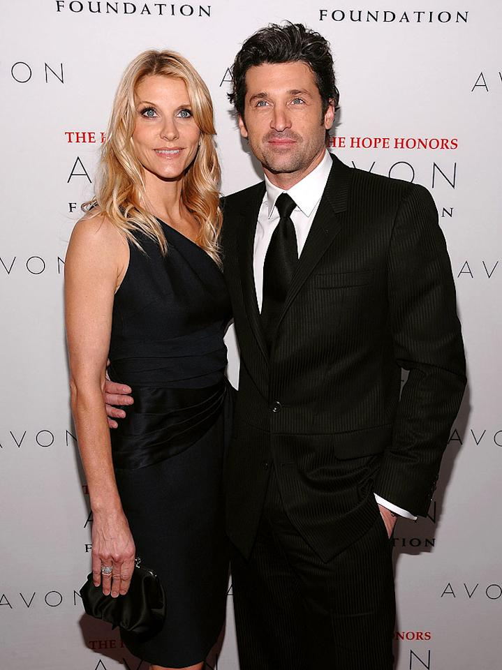 """Grey's Anatomy"" hunk Patrick Dempsey and his beautiful wife Jillian add some much-needed glamour to the red carpet. Dimitrios Kambouris/<a href=""http://www.wireimage.com"" target=""new"">WireImage.com</a> - October 28, 2008"