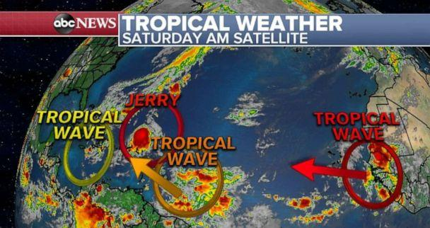 PHOTO: Tracking tropical weather. (ABC News)