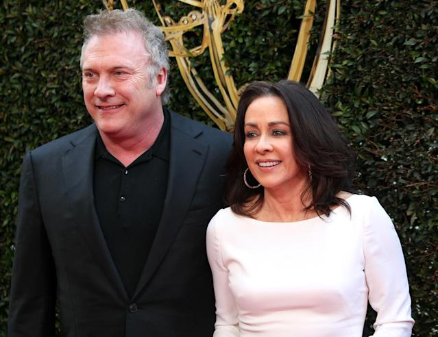 David Hunt, pictured with wife Patricia Heaton in 2016, was accused of inappropriately touching a female writer on the set of <em>Carol's Second Act</em>. (Photo: David Livingston/Getty Images)