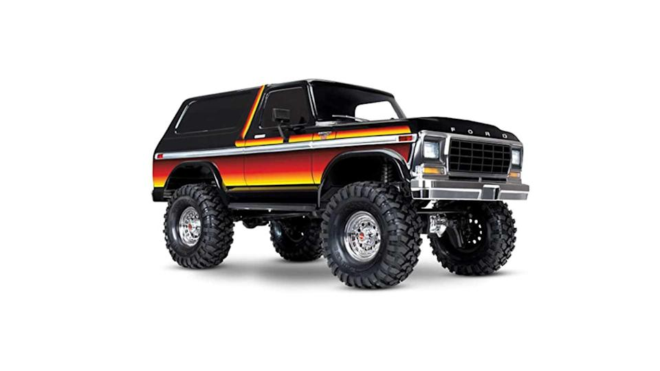 "<p>This 1:10 scale radio controlled monster Bronco comes from Traxxas, and it's <em>epic</em>. Not only does it look fantastic in second-generation trim, it rides on the Traxxas TRX-4 rock crawling chassis. It's not cheap, but it could be the coolest Bronco accessory of them all.</p>   <ul><li><a href=""https://www.motor1.com/news/431995/watch-2021-ford-bronco-debut-july-13/?utm_campaign=yahoo-feed"" rel=""nofollow noopener"" target=""_blank"" data-ylk=""slk:How To Watch The 2021 Ford Bronco Debut On July 13"" class=""link rapid-noclick-resp"">How To Watch The 2021 Ford Bronco Debut On July 13</a></li><br><li><a href=""https://www.motor1.com/news/432769/2021-ford-bronco-spy-shots-interior/?utm_campaign=yahoo-feed"" rel=""nofollow noopener"" target=""_blank"" data-ylk=""slk:2021 Ford Bronco Spy Shots Reveal Off-Roader's Interior"" class=""link rapid-noclick-resp"">2021 Ford Bronco Spy Shots Reveal Off-Roader's Interior</a></li><br></ul>"
