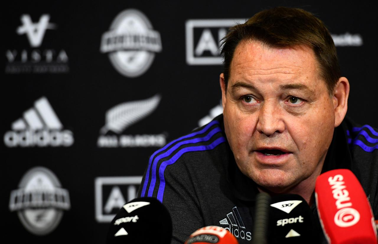 New Zealand head coach Steve Hansen (AFP Photo/FRANCK FIFE)