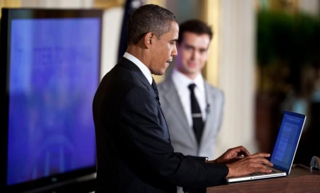 You can follow the president on Twitter: @BarackObama.