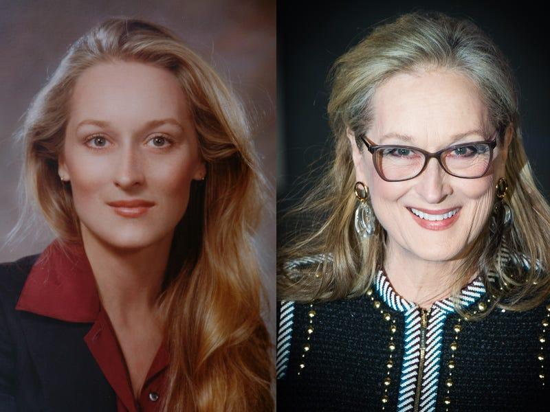 meryl streep then and now