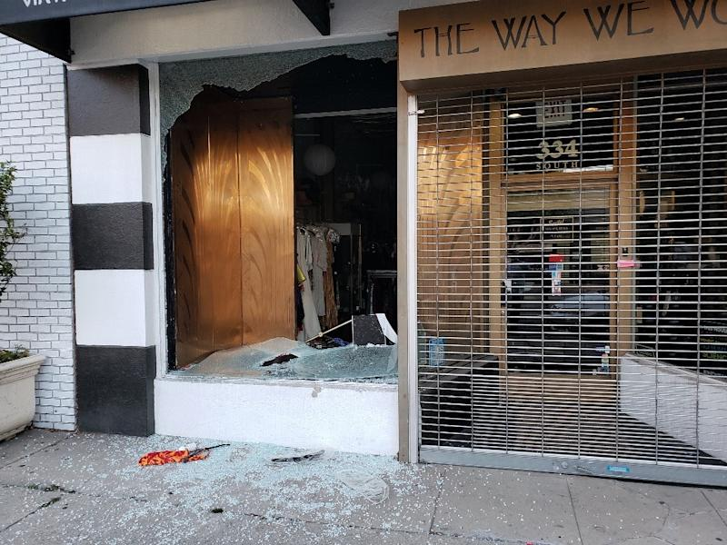 Looters broke into vintage store The Way We Wore in La Brea, Los Angeles on Saturday evening (Photo: Doris Raymond)
