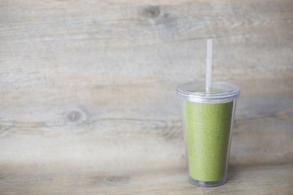 """<p>Same goes for green juices, Fisher says. If you do decide to down one, be mindful of portion size. Most bottles and restaurant cups are made for one, but they most likely contain two or more servings. """"Thus doubling or tripling the calories and sugar grams you may be drinking in one sitting,"""" she says</p>"""