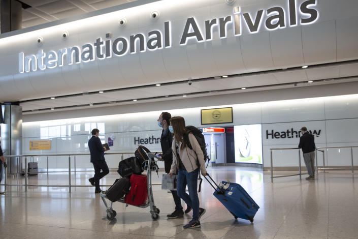 The UK government removed France from its travel corridor list, prompting travel chaos. Photo: Matt Dunham/AP