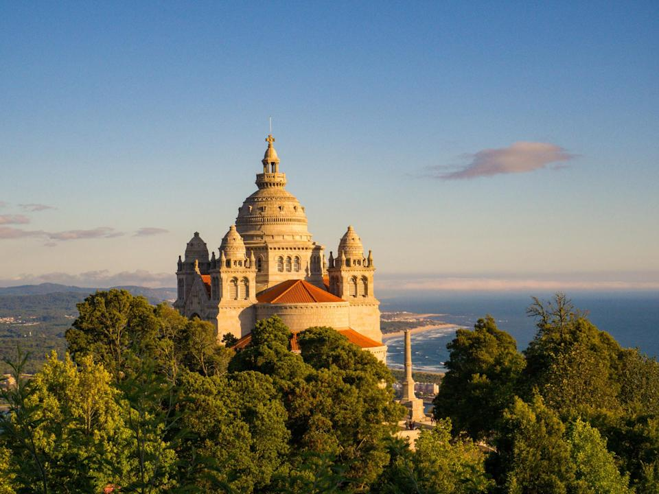 A castle in the hills of Viana do Castelo, Portugal.