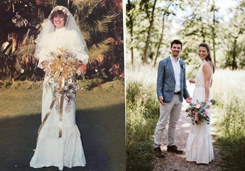 Amy's mumCarole (left) and Amy with her husband David (right) (Photo: Amy Smedley Walker)