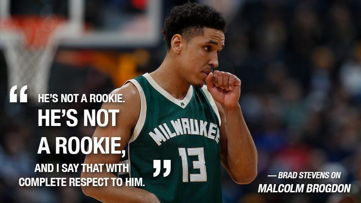 Malcolm Brogdon is either an old rookie or a young veteran. Either way, he can play. (AP)