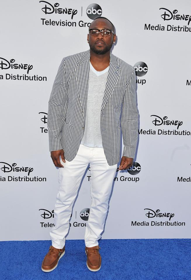 BURBANK, CA - MAY 19:  Actor Omar Epps arrives at the Disney Media Networks International Upfronts at Walt Disney Studios on May 19, 2013 in Burbank, California.  (Photo by Angela Weiss/Getty Images)