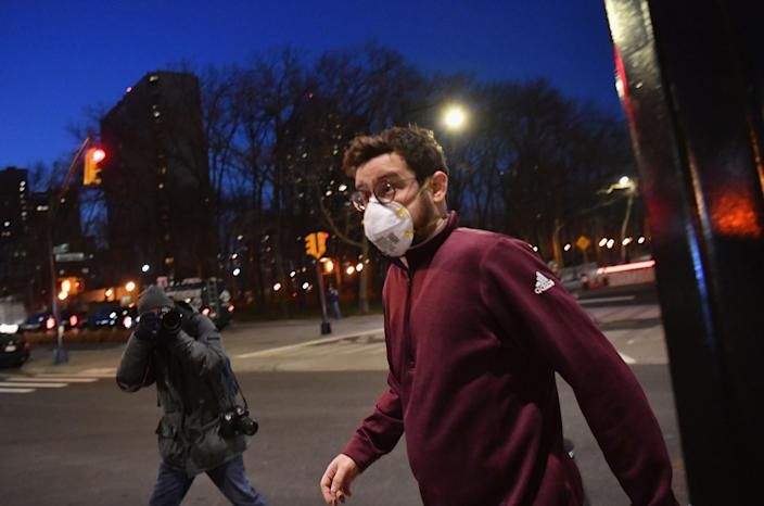 Aaron Mostofsky after appearing from a court hearing in BrooklynAFP via Getty Images