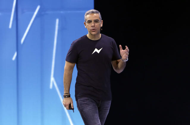 Messenger chief David Marcus is leaving his post to run a new unit inside Facebook focused on blockchain opportunities. Source: AP Photo/Marcio Jose Sanchez