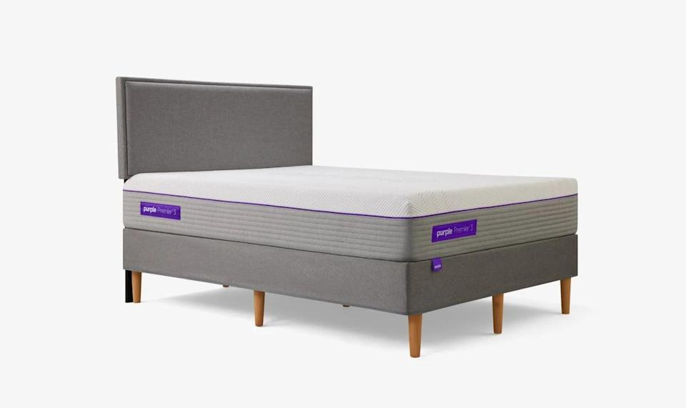 <p>If you still want a more traditional mattress with coils, you can opt for the <span>Purple Hybrid Premier Mattress</span> ($2,299- $4,598). It has a mix of springs and the brand's signature purple grid for a supportive and cozy feel.</p>